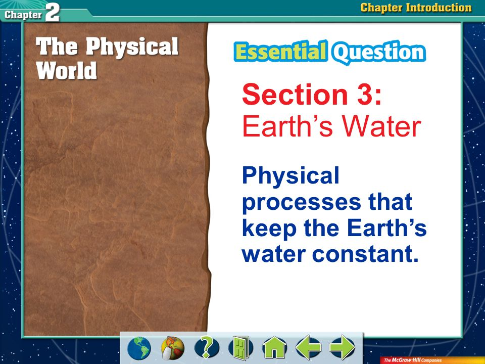 Section 3: Earth's Water