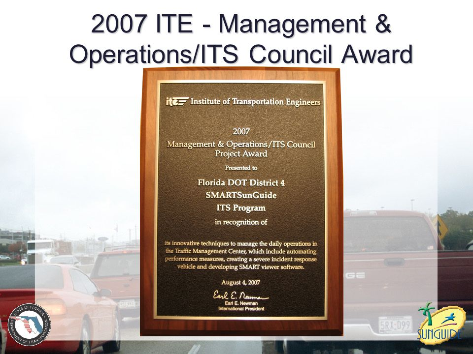 2007 ITE - Management & Operations/ITS Council Award