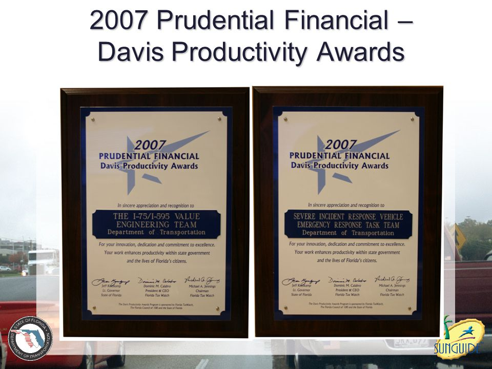 2007 Prudential Financial – Davis Productivity Awards