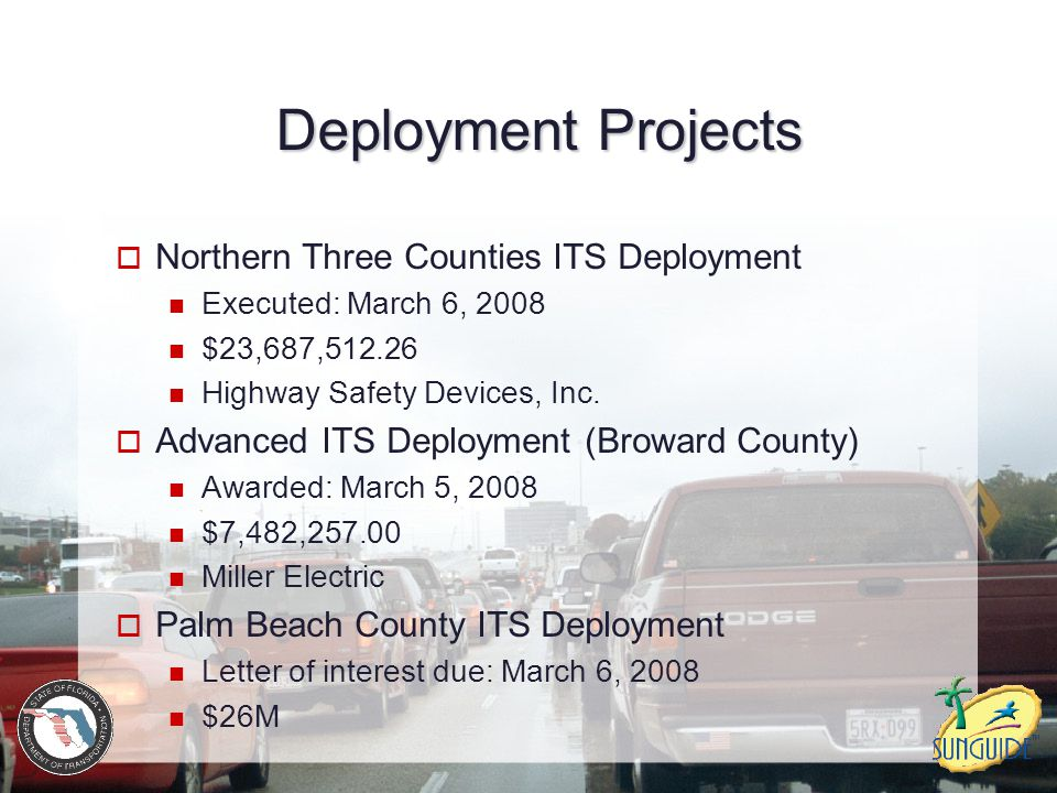 Deployment Projects Northern Three Counties ITS Deployment