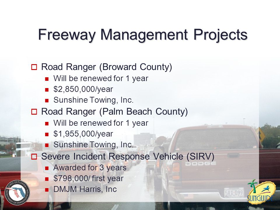 Freeway Management Projects
