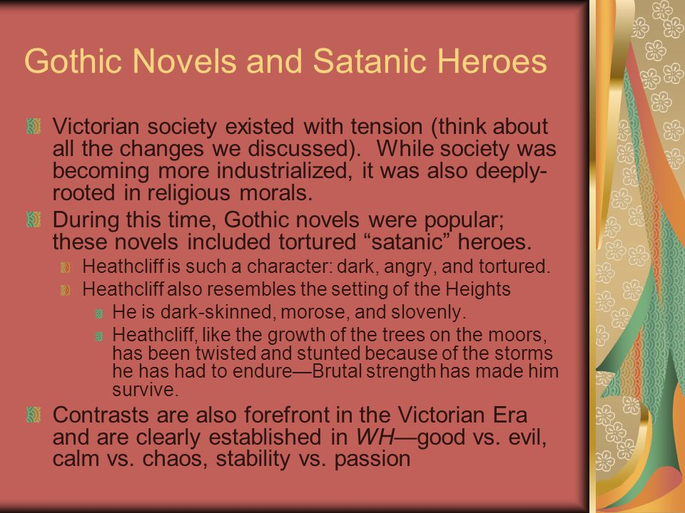 Gothic Novels and Satanic Heroes