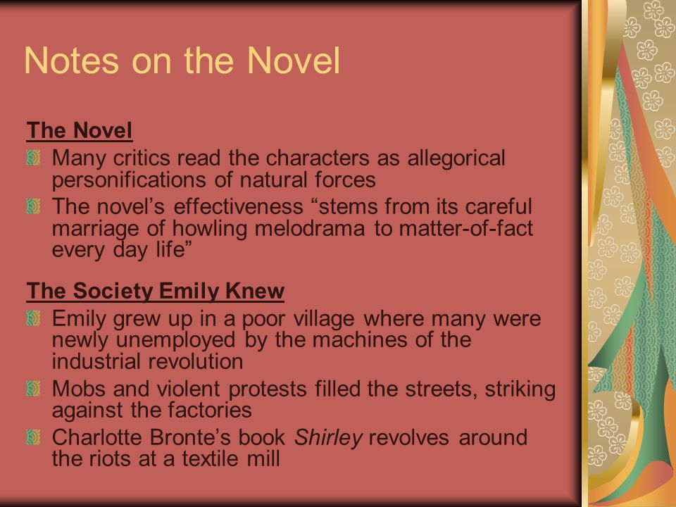 Notes on the Novel The Novel