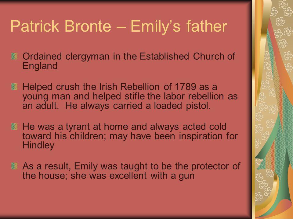 Patrick Bronte – Emily's father