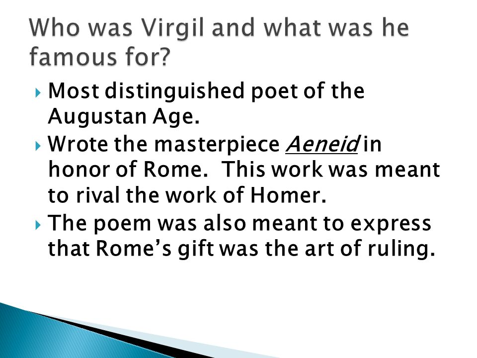 Who was Virgil and what was he famous for
