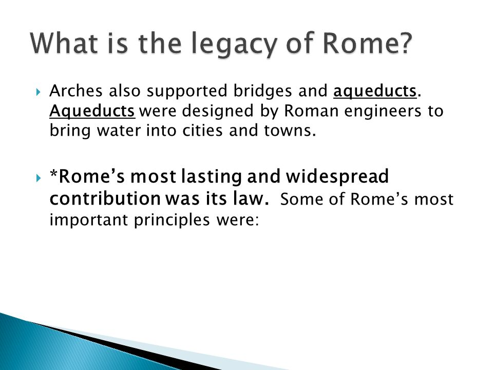 What is the legacy of Rome