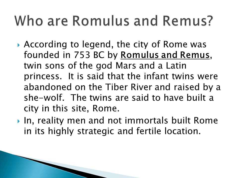 Who are Romulus and Remus