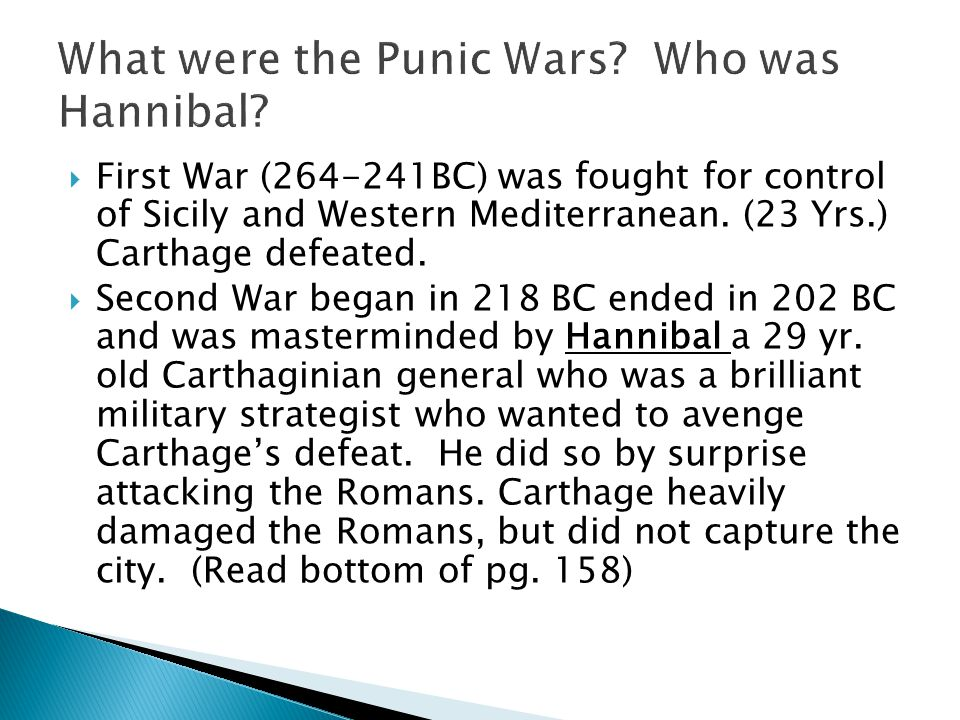 What were the Punic Wars Who was Hannibal
