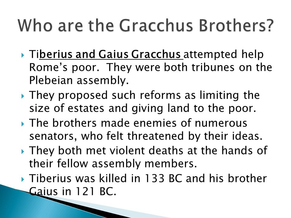 Who are the Gracchus Brothers