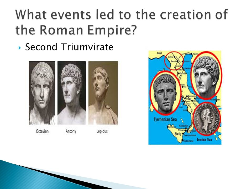 What events led to the creation of the Roman Empire