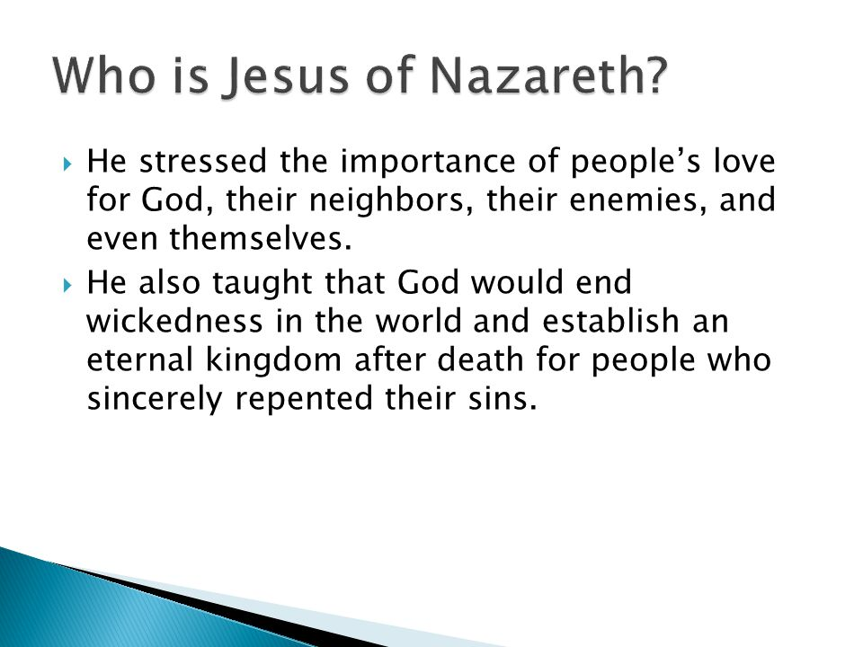 Who is Jesus of Nazareth