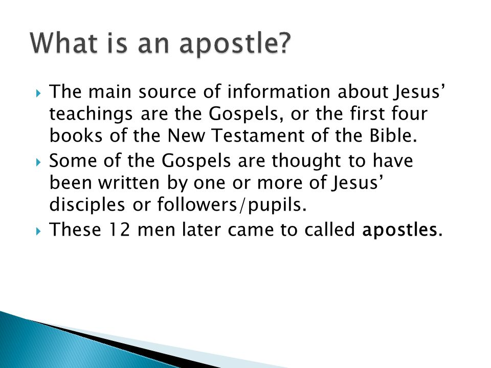 What is an apostle