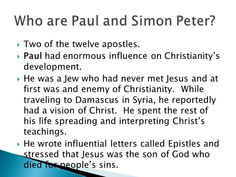 Who are Paul and Simon Peter