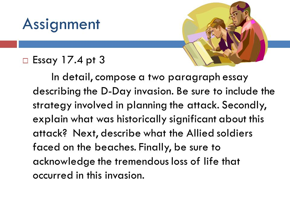 Assignment Essay 17.4 pt 3.