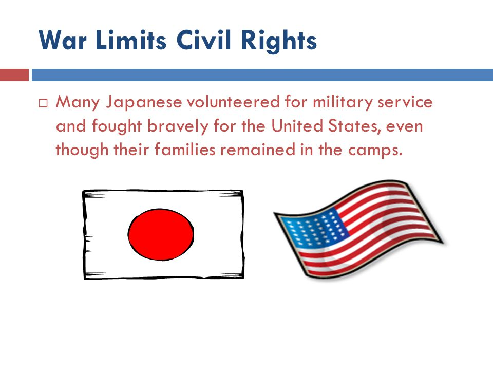 War Limits Civil Rights