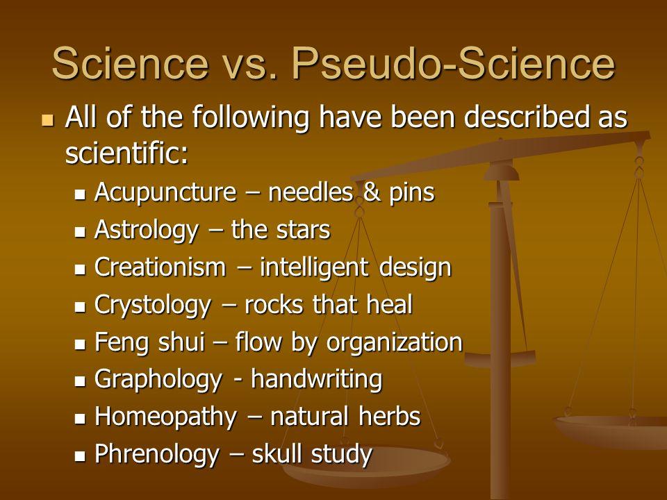 Science vs. Pseudo-Science