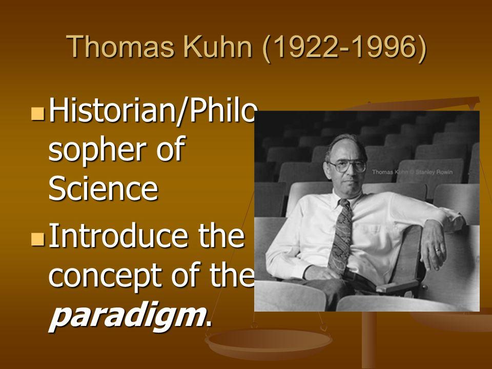 Historian/Philosopher of Science