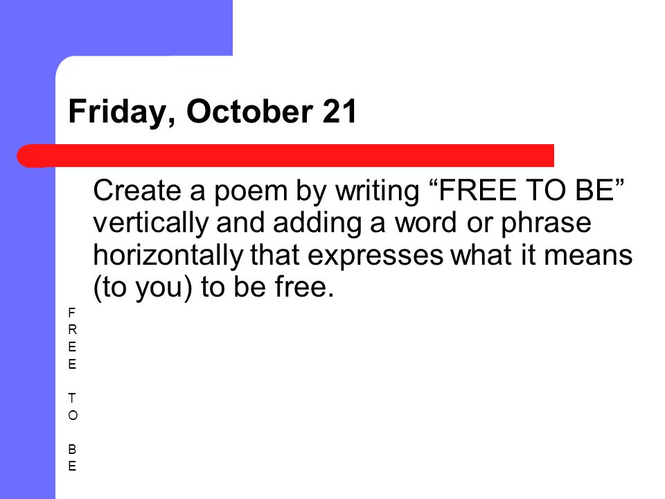 Friday, October 21