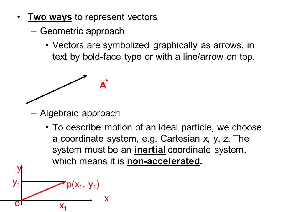Two ways to represent vectors