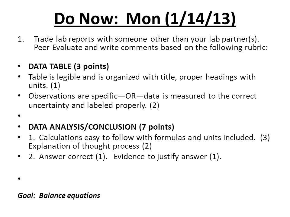 Do Now: Mon (1/14/13)