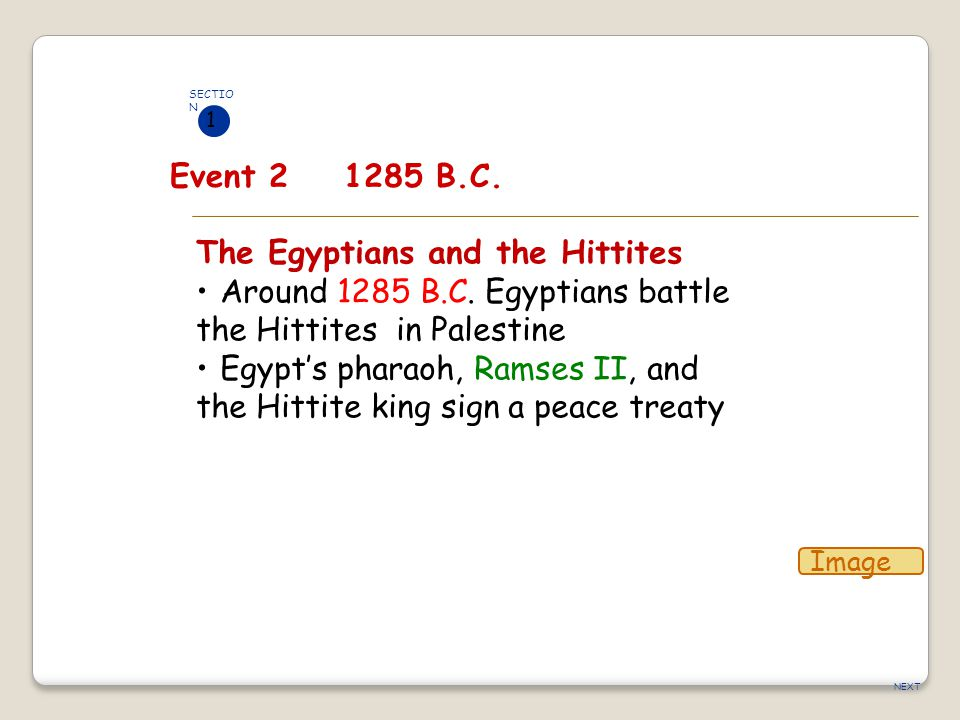 The Egyptians and the Hittites