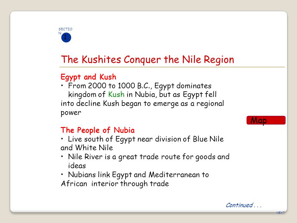 The Kushites Conquer the Nile Region