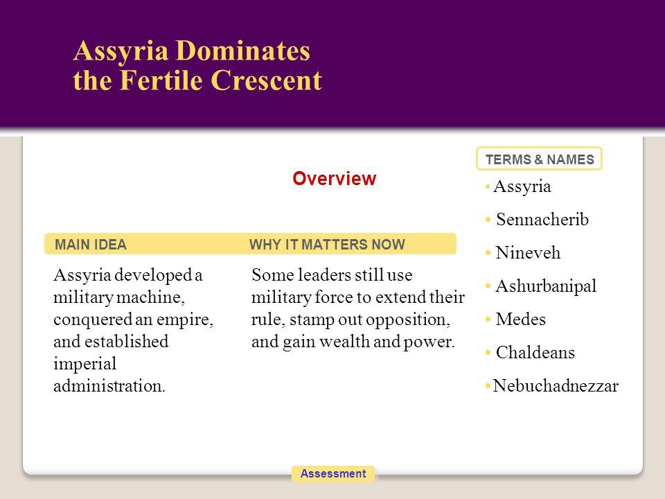 Assyria Dominates the Fertile Crescent Overview • Sennacherib