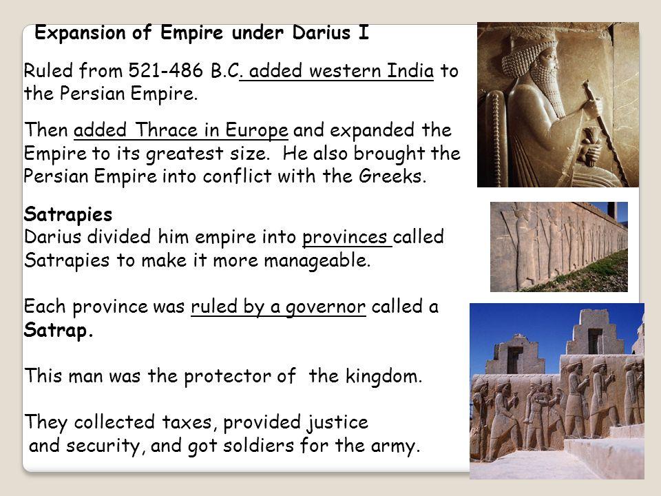 Expansion of Empire under Darius I