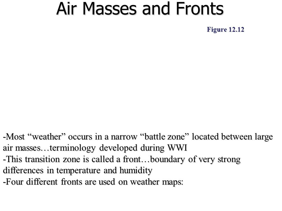 Air Masses and Fronts Figure 12.12.