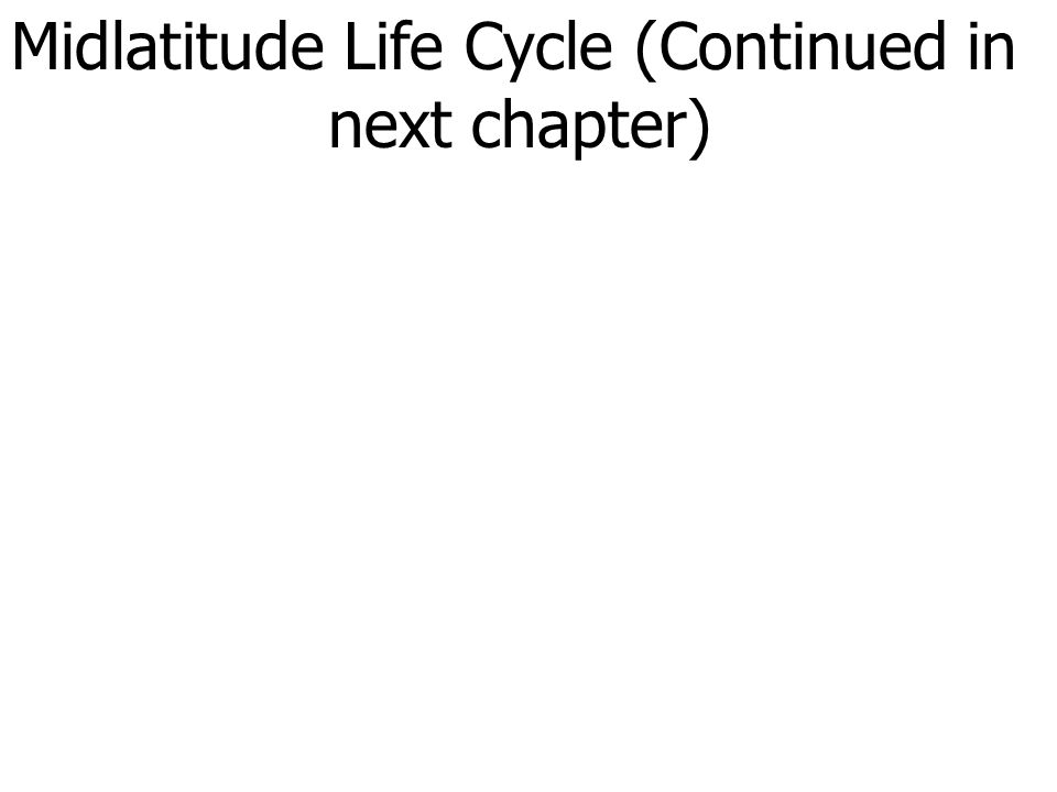 Midlatitude Life Cycle (Continued in