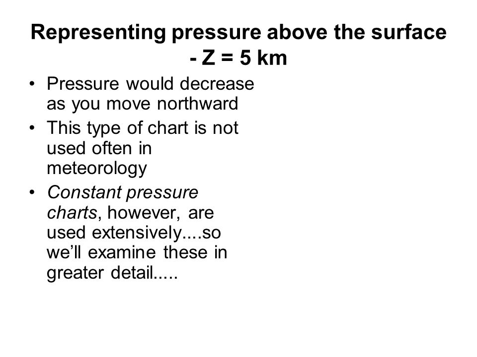 Representing pressure above the surface - Z = 5 km