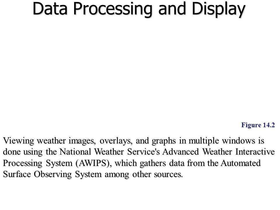 Data Processing and Display