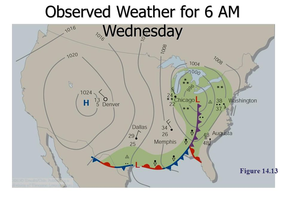 Observed Weather for 6 AM Wednesday