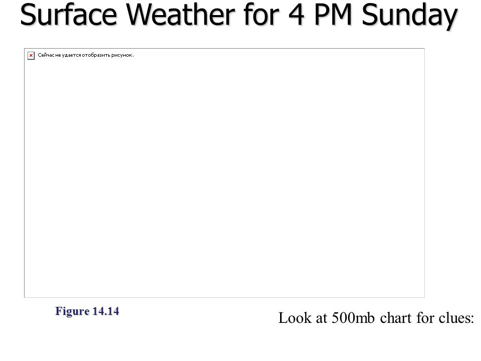 Surface Weather for 4 PM Sunday