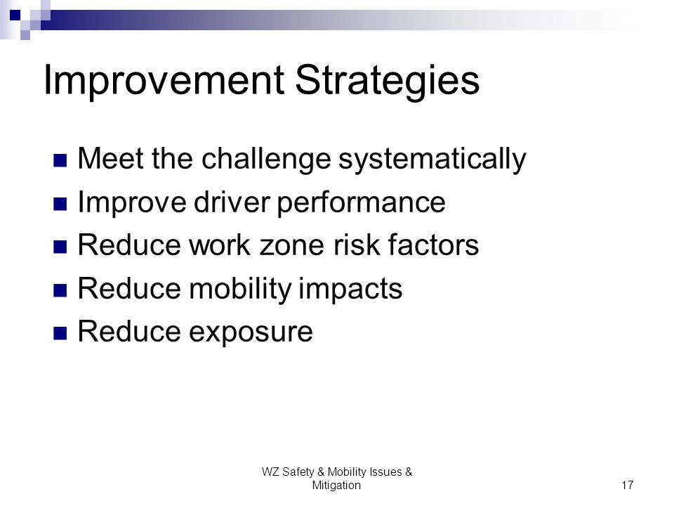 Improvement Strategies