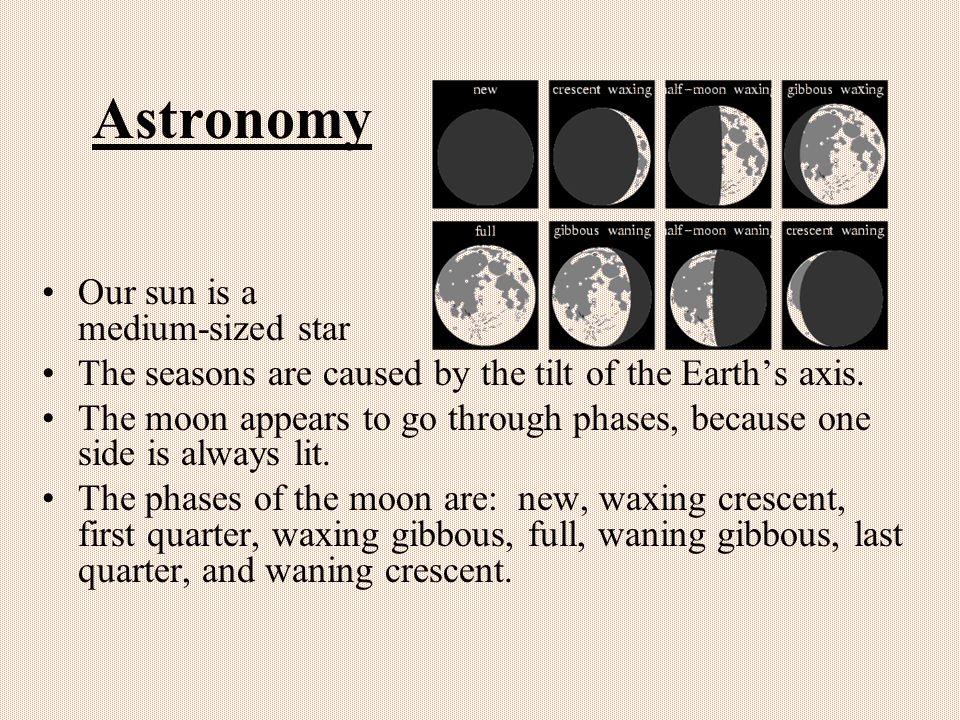 Astronomy Our sun is a medium-sized star