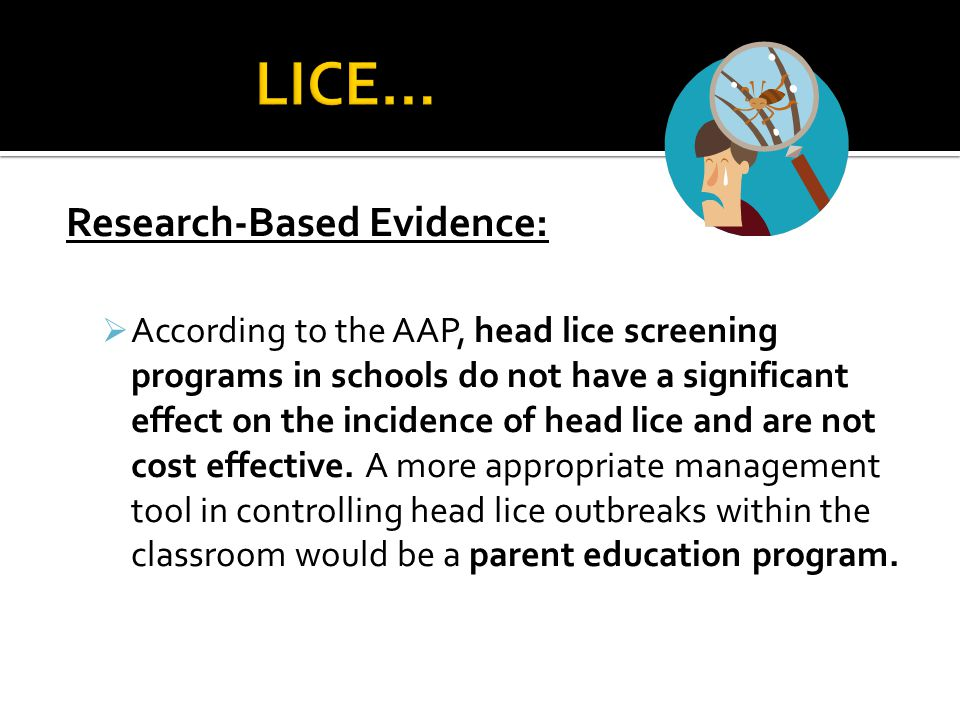 LICE… Research-Based Evidence: