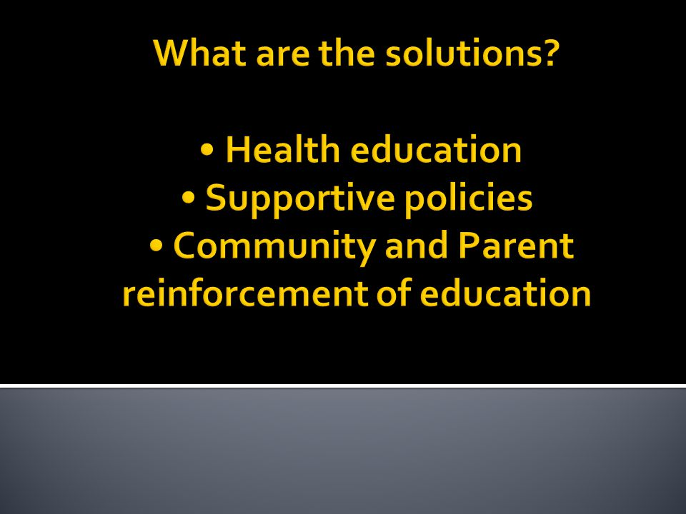 What are the solutions.