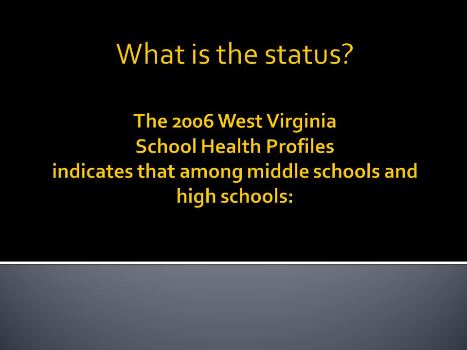 What is the status.