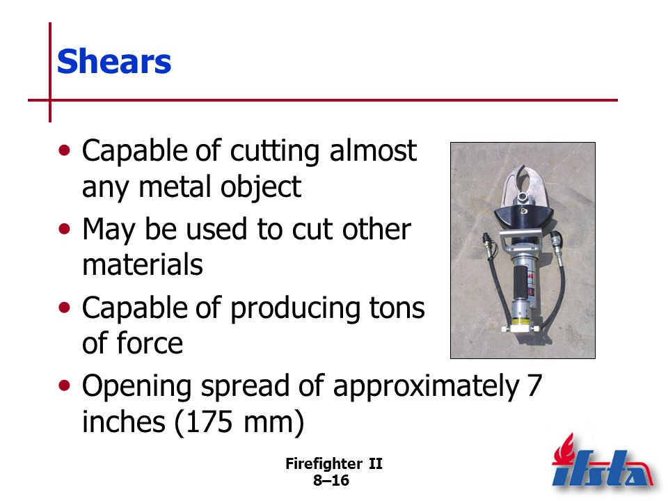 Shears Capable of cutting almost any metal object