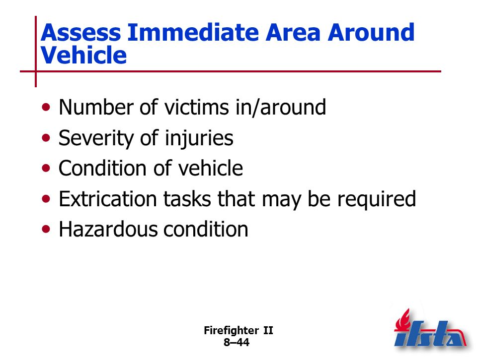 Assess Immediate Area Around Vehicle