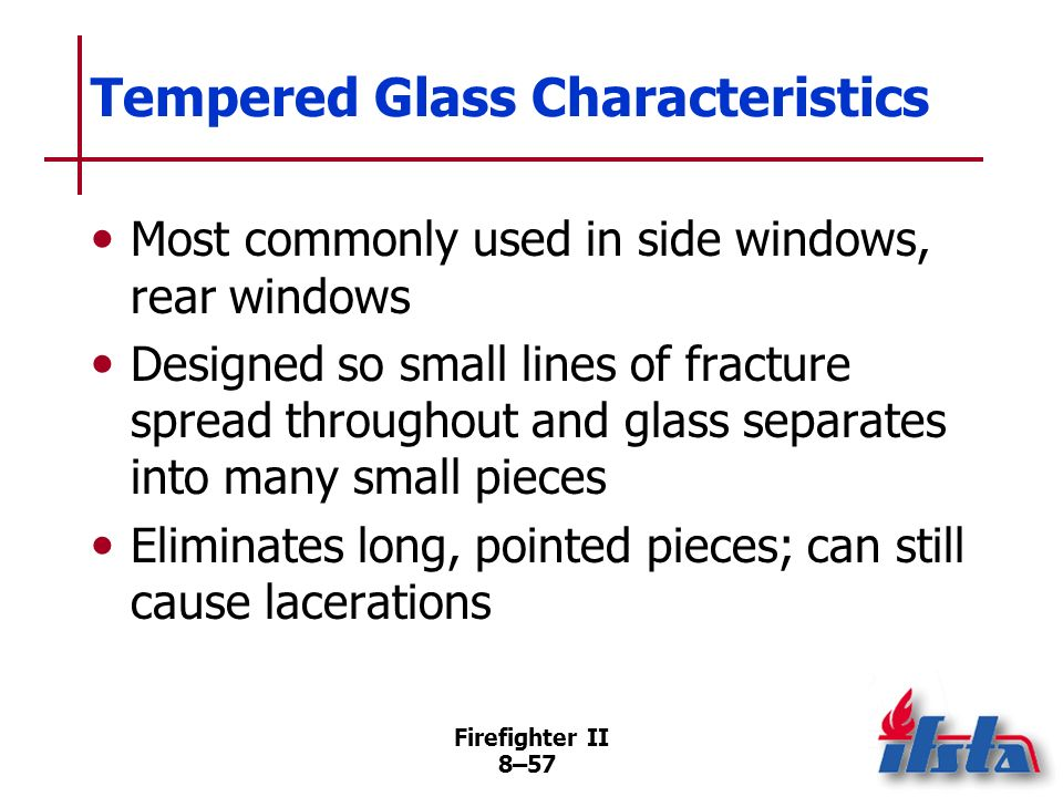 Tempered Glass Characteristics