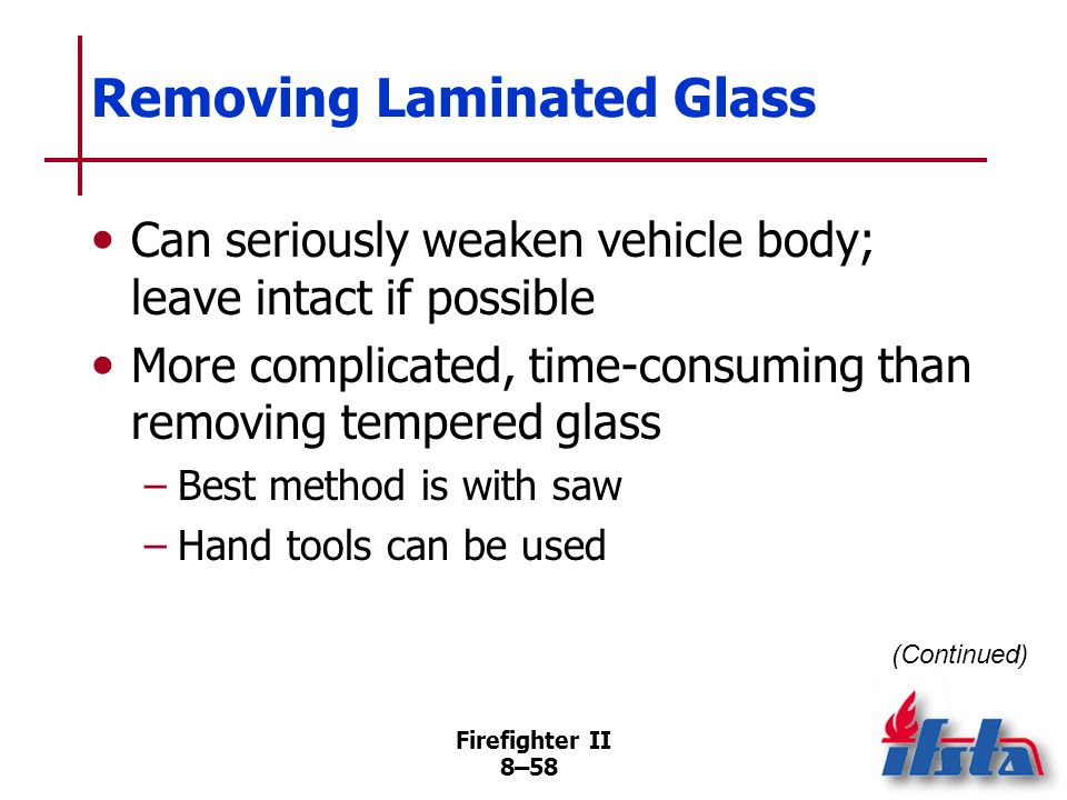 Removing Laminated Glass