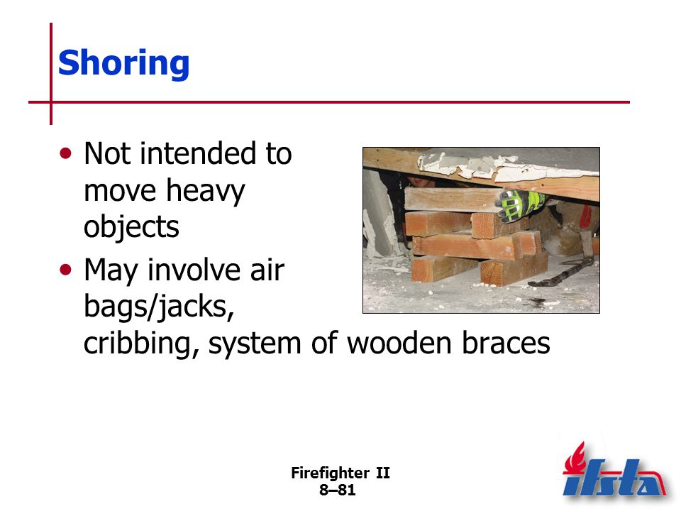 Shoring Not intended to move heavy objects