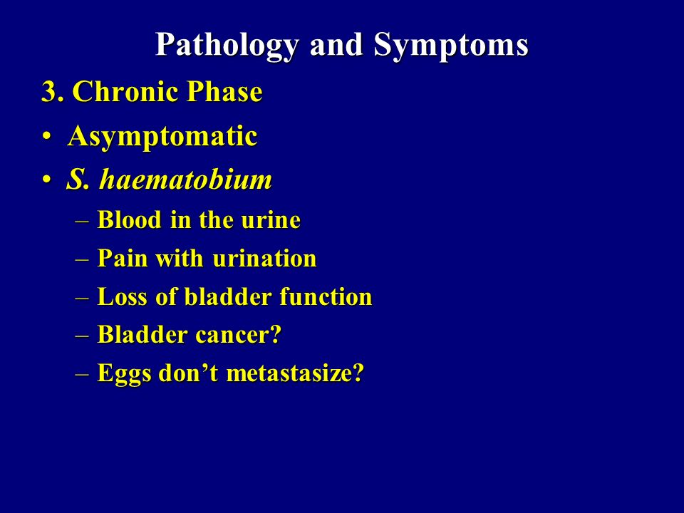 Pathology and Symptoms