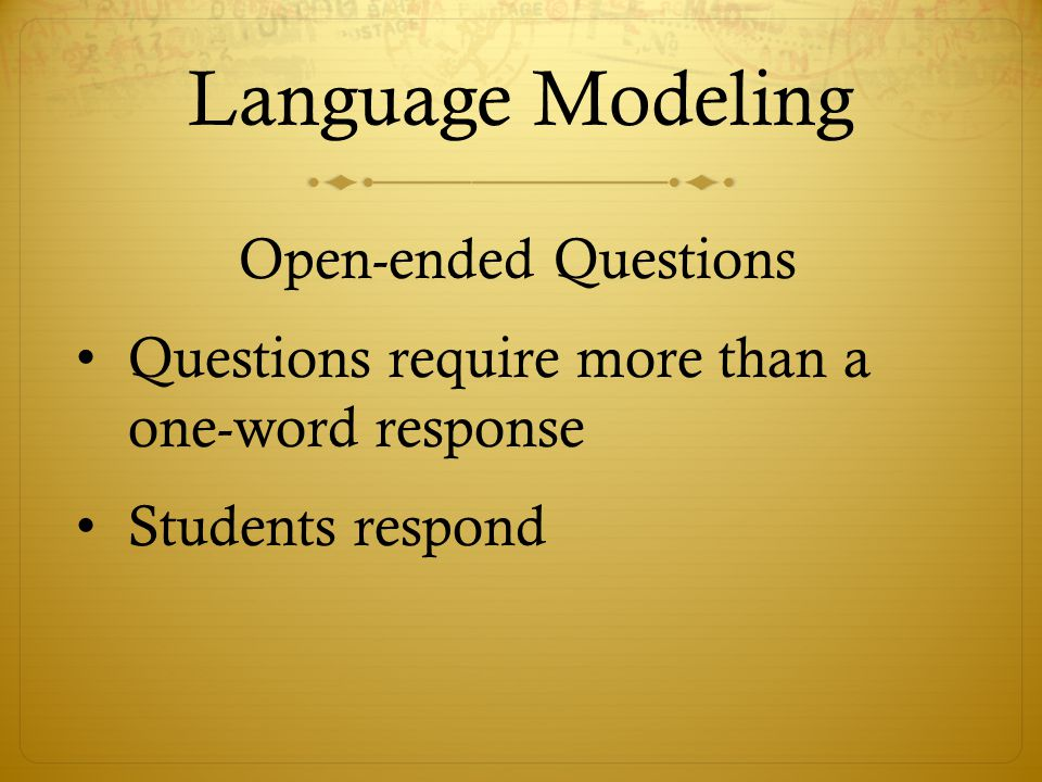 Language Modeling Open-ended Questions