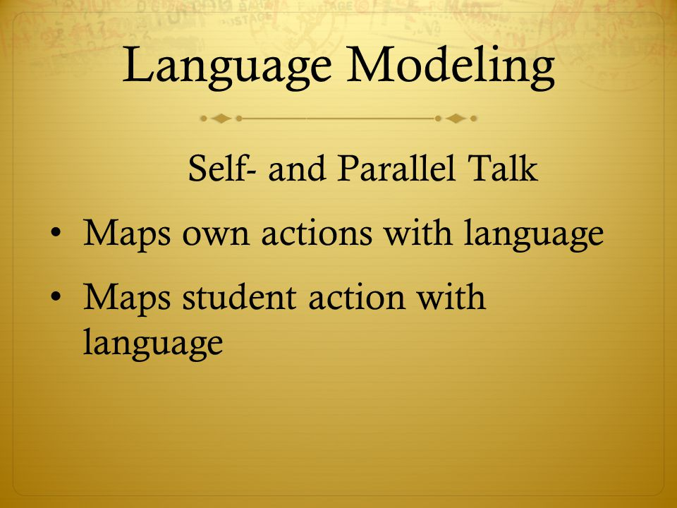 Language Modeling Maps own actions with language