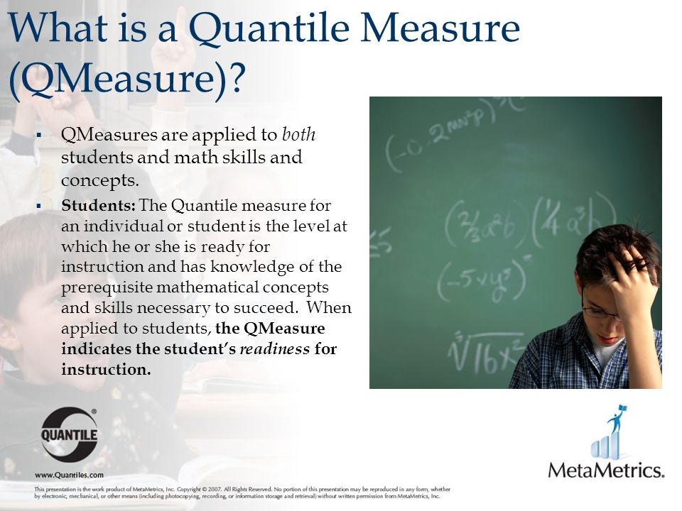 What is a Quantile Measure (QMeasure)