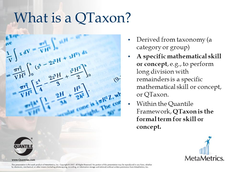 What is a QTaxon Derived from taxonomy (a category or group)