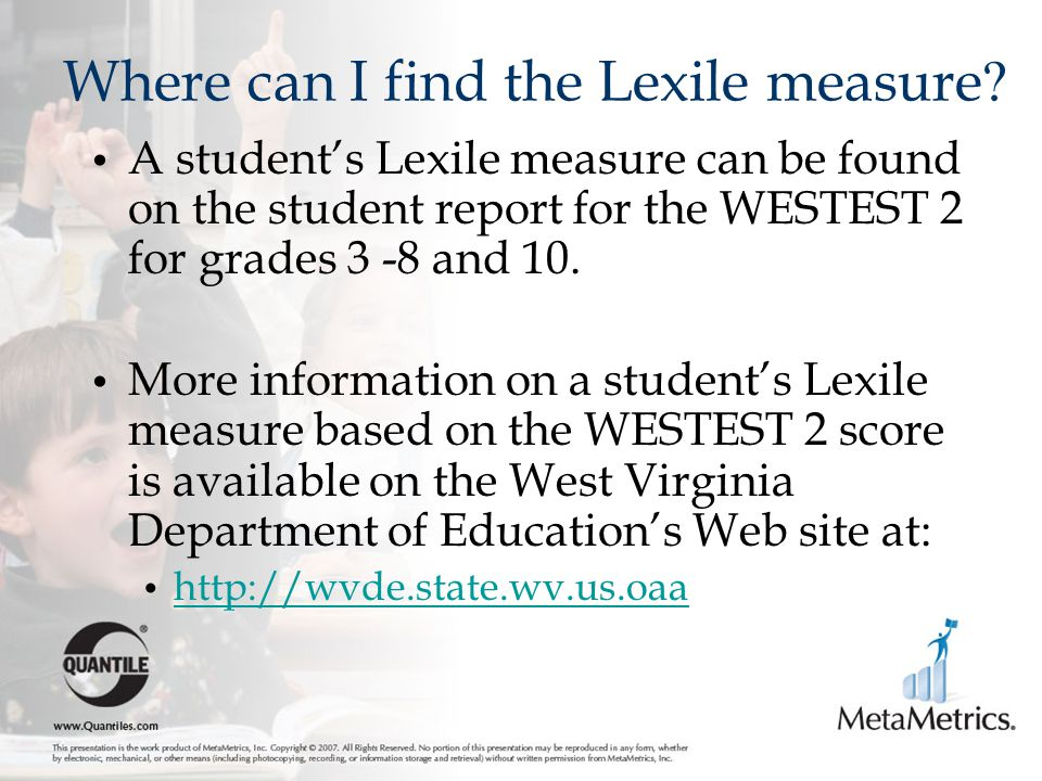 Where can I find the Lexile measure